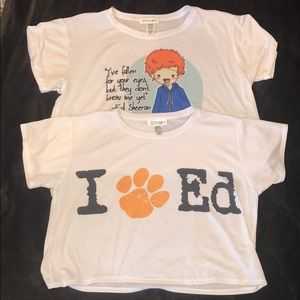 2 for $35 Ed Sheeran FreshTops Crop Tops